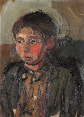 Joan Kathleen Harding Eardley, RSA (British, 1921-1963) Boy with Apple Cheeks 38.5 x 27.5 cm. (15 3/16 x 10 13/16 in.)