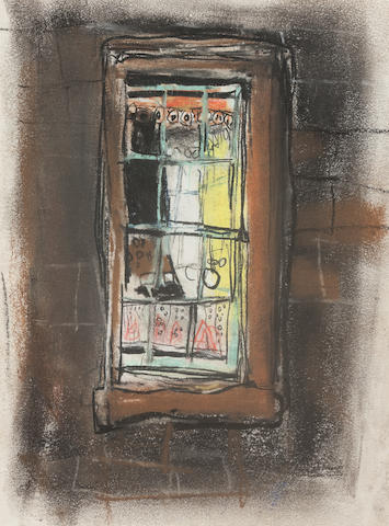 Joan Kathleen Harding Eardley, RSA (British, 1921-1963) Tenement Window 19 x 15 cm. (7 1/2 x 5 7/8 in.)