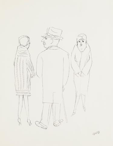 George Grosz (German, 1893-1959) Auf der Strasse
