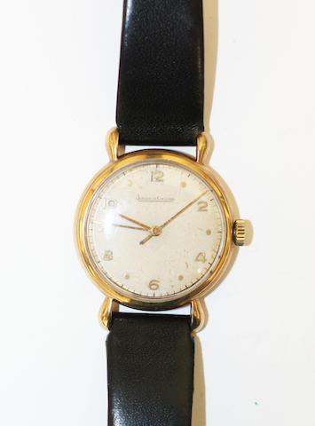 Jaeger LeCoultre: A gentleman's 9ct gold wristwatch,