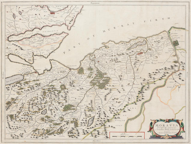 SCOTALND, MORAY FIRTH BLAEU (JAN) Moravia Scotiae provincia