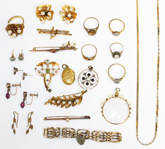 A collection of vari-gem set jewellery, (quantity)