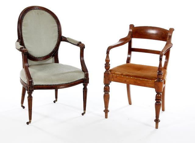 A teak armchair