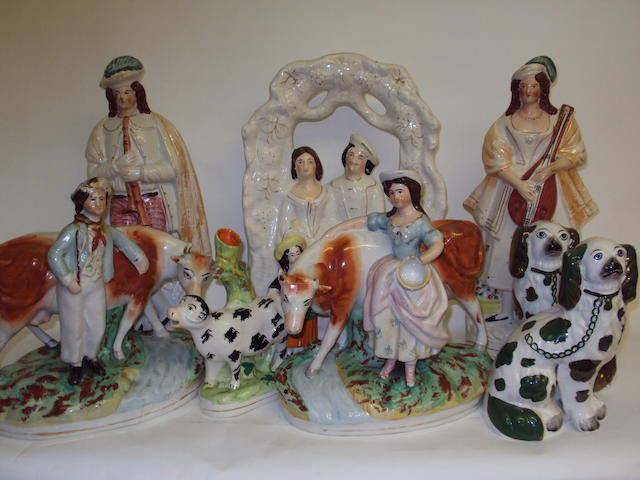 A small collection of 19th century Staffordshire figures
