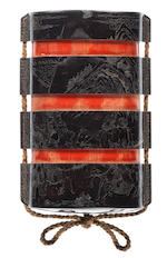 A rare large Ryukyu lacquer three-case inro By Xiyan, dated the fifth year of Yongzheng (1727)