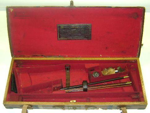 An Alexander Martin brass-mounted leather double-guncase