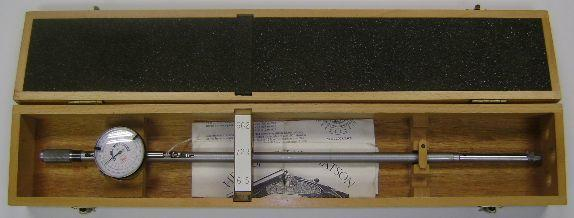 A Chubbs multi-gauge bore micrometer In its box, together with instructions leaflet from Hellis, Beesley & Watson