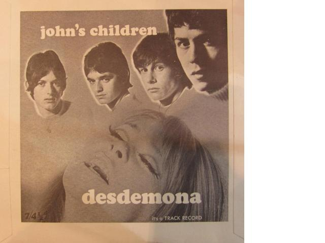 John's Children: 'Desdemona'/'Remember Thomas À Becket',  1967,
