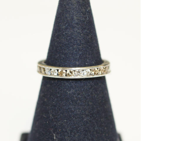 A diamond eternity ring,