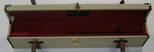 An unusual James Purdey & Sons brass-mounted leather motor-case