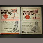 1935/36 and 1937/38 Barnsley v Manchester United football programmes