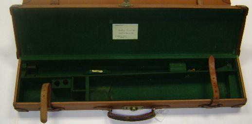 Two leather single-guncases with William Evans trade-labels