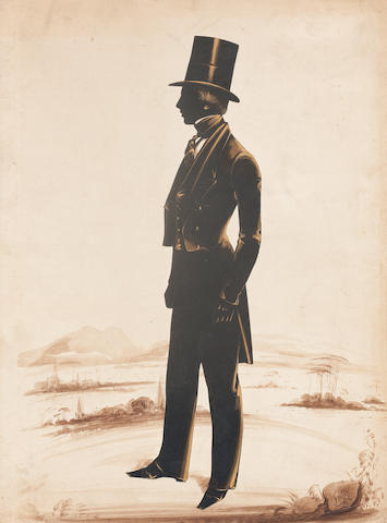 Frederick Frith (British, active c.1825-1854)Silhouette of John Lendrum, Aberdeen