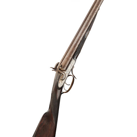 A late 19th century 12-bore 'pinfire' gun   By J Lees of Perth