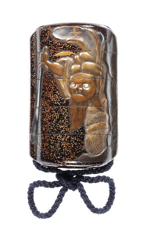 A lacquer four-case inro Late 18th century