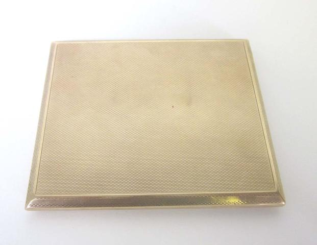A 9ct gold cigarette case by S J Rose & Son, probably London 1937,