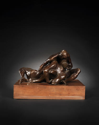 Michael Ayrton (British, 1921-1975) Couple II 33.5 cm. (14 in. ) long (including base)