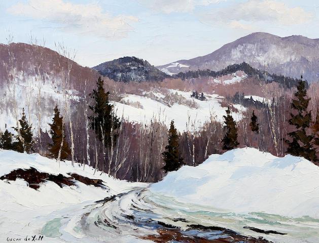 Oscar Daniel de Lall (Canadian, 1903-1971) 'Early Spring, Laurentians'