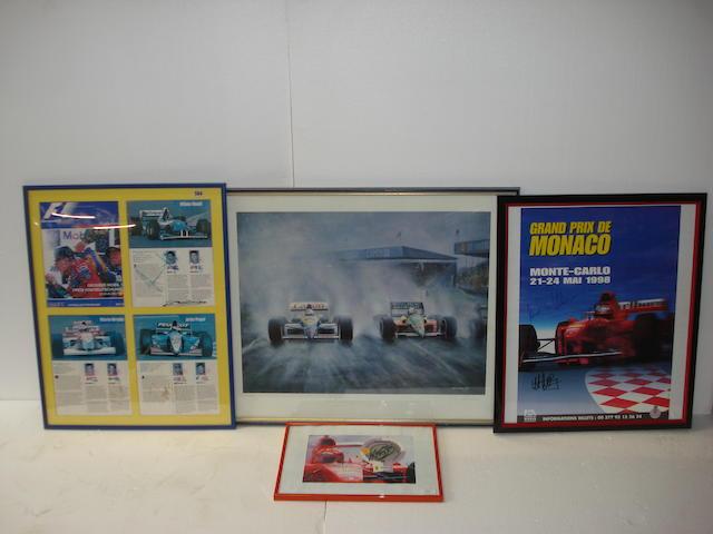 Formula 1 signed memorabilia,