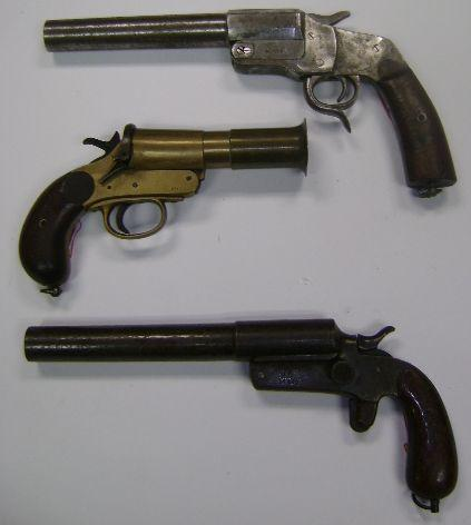 A 26.5mm 'Hebel Model 1894' flare pistol by 'J&C', no. 776 (3)