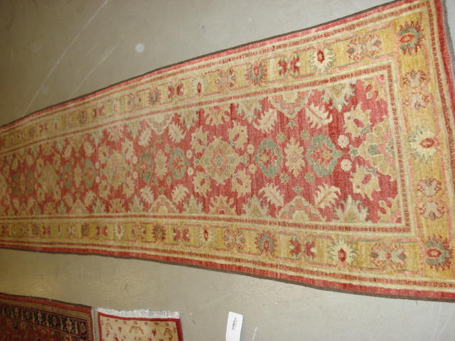 A Ziegler design runner, 300cm x 77cm together with seven other pieces (8)