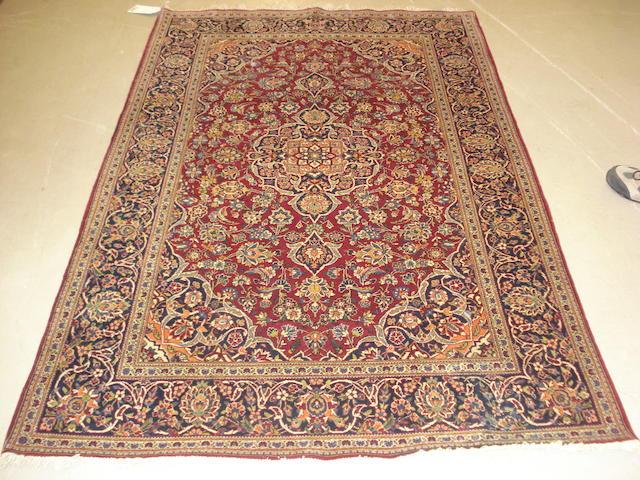 A Kashan rug, Central Persia, 190cm x 138cm