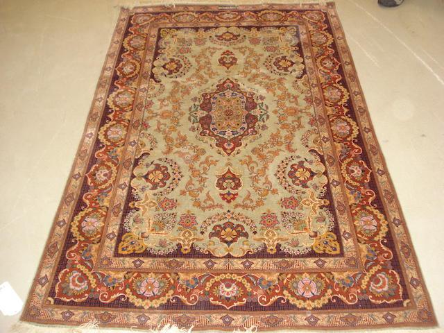 A Kashan rug, Central Persia, 210cm x 133cm