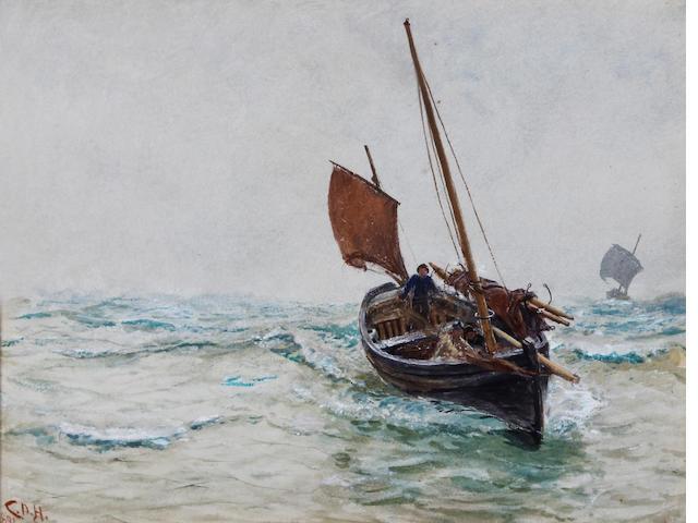 Charles Napier Hemy, RA RWS (British, 1841-1917) 'Nearing Home'