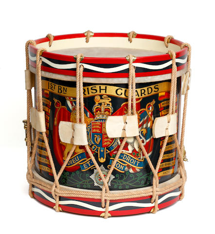 1st Battalion The Irish Guards, a Brass Side Drum
