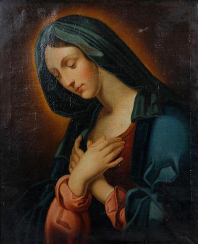 Follower of Giovanni Battista Salvi, called il Sassoferrato (Sassoferrato 1609-1685 Rome) The Madonna in prayer