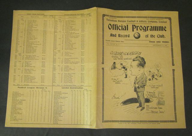 1935/36 Tottenham Hotspur v Barnsley programme