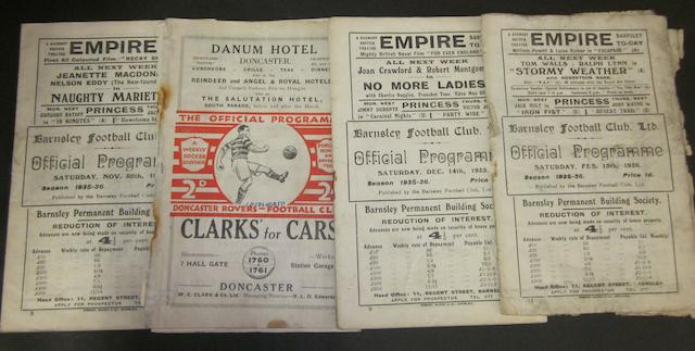 1935/36 Barnsley home and away programmes