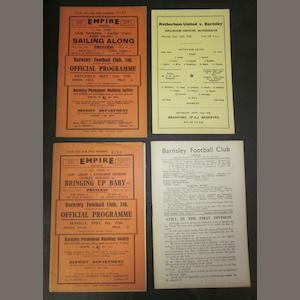 1938/39 Barnsley home and away programmes