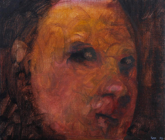Gerry Keon (British, born Dorset 1942) 'Face in a Crowd'