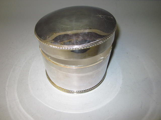 A silver circular box, by Mappin and Webb, Sheffield 1988,