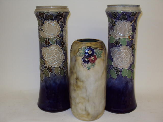 Three Royal Doulton vases