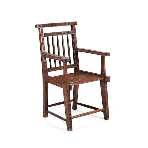 Two oak Caithness chairs, first quarter 20th century