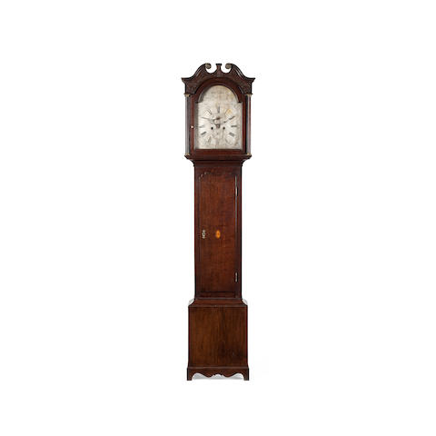A George III oak longcase clock  Adam Gordon, Dunkeld
