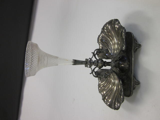 A Victorian electroplated table centrepiece,