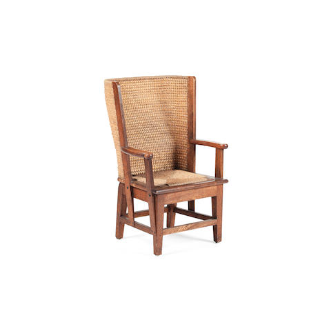 A late 19th/early 20th century child's Orkney chair David Kirkness type, Kirkwall