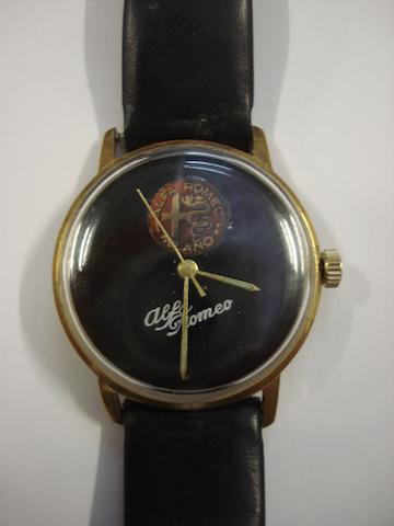 A Alfa Romeo wristwatch, 1950's,