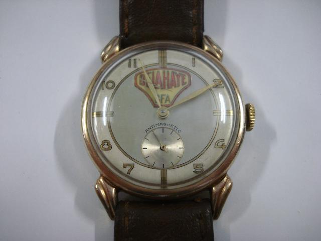 A Delahaye wristwatch, 1940's,