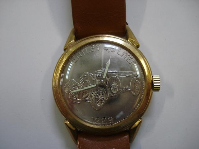 A Bentley 4.5 Liter wristwatch, 1930's,