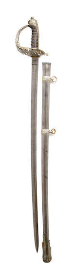 A Cased Victorian Presentation Sword