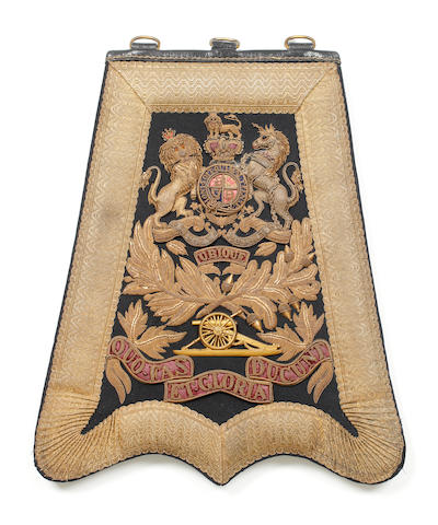 The Royal Artillery, an Officer's Full Dress Sabretache and Flap Pouch c1874-1901