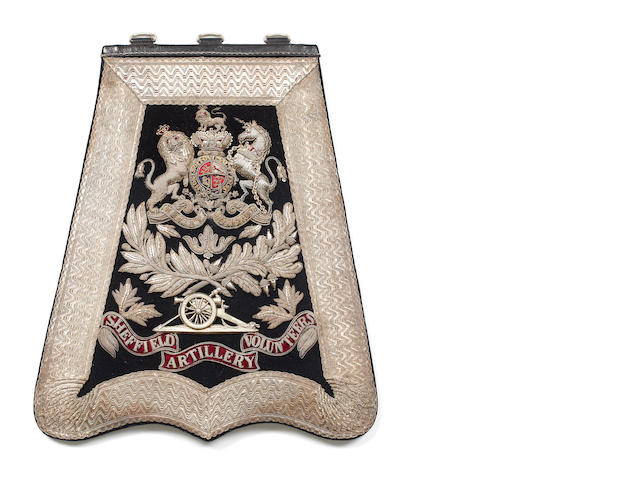 The Sheffield Artillery Volunteers, an Officer's Full Dress Sabretache
