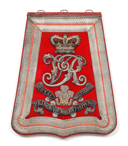 The Prince of Wales's Own Royal Wiltshire Yeomanry Cavalry, an Officer's Full Dress Sabretache 1863-1901