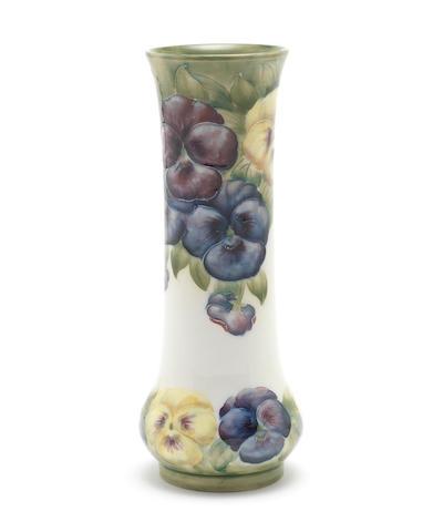 William Moorcroft 'Pansy' a Macintyre Vase, circa 1910