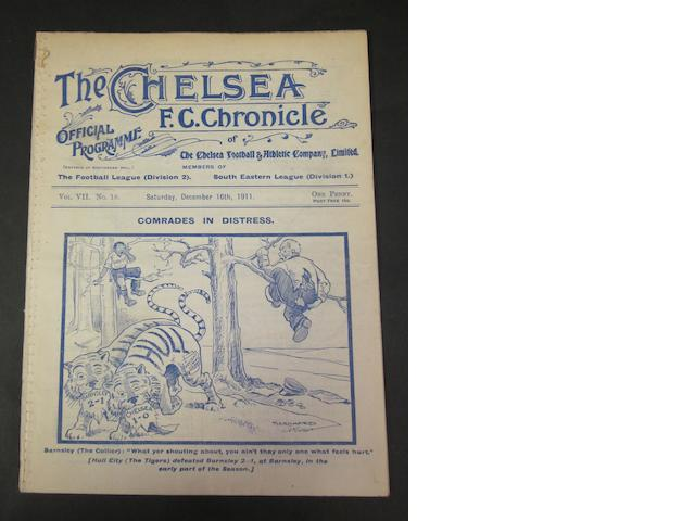 1911 Chelsea v Barnsley programme