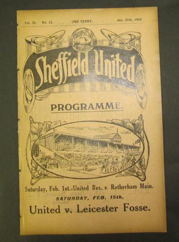 1919 Sheffield United v Barnsley programme